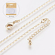 Long-Lasting Plated Brass Link Chain Necklaces(X-NJEW-K112-14G-NF)-1
