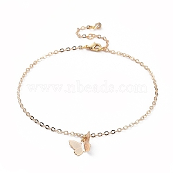 латунные браслеты, с кабельными цепями, застежка из хрусталя и лобстера, реальное золото покрыло, 9-1 / 4 (23.5 см)(AJEW-AN00281-01)