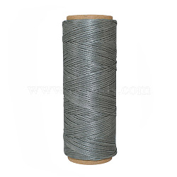 Polyester Thread Cords, Gray, 1mm; about 50m/roll(YC-E001-1mm-01G)