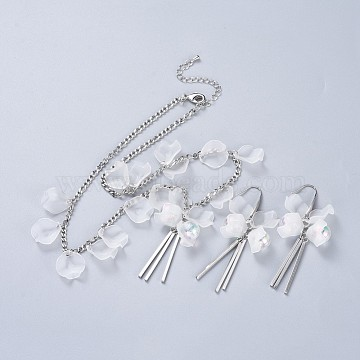 White Acrylic Earrings & Necklaces