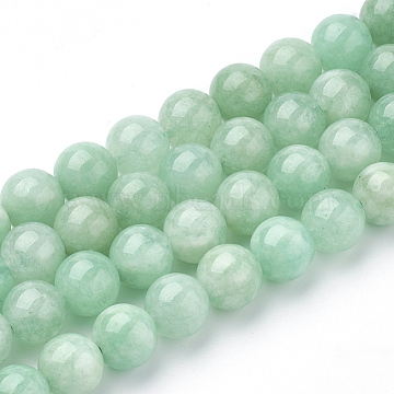 Natural Myanmar Jade/Burmese Jade Beads Strands, Round, 8mm, Hole: 1mm, about 48pcs/strand, 15.3 inches(X-G-T064-22-8mm)