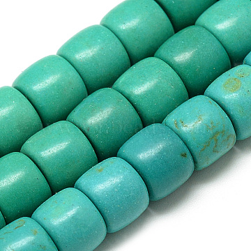 10mm LightSeaGreen Column Synthetic Turquoise Beads