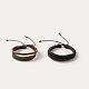Adjustable Trendy Unisex Casual Style Leather Cord Bracelets(BJEW-J112-09)-1