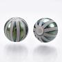 Cadet Blue Round Glass Beads(EGLA-S173-08E)