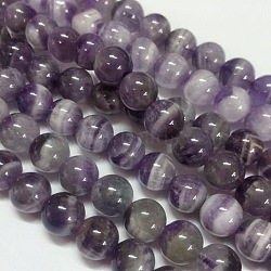 Gemstone Beads Strands, Natural Grade B Amethyst, Round, Purple, 14mm, Hole: 1mm; about 28pcs/strand