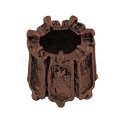 Colonne en alliage de style tibétain supports perles européennes cabochon, Perles avec un grand trou   , sans nickel et sans plomb, cuivre rouge, plateau: 5x2 mm; 8x8 mm, Trou: 5mm(X-TIBEP-7688-R-NR)